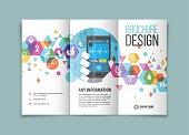 Tri-fold brochure design on Medical and healthcare.