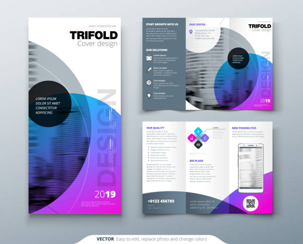 Royalty Free Three Fold Brochure Template Corporate Flyer Or Cover