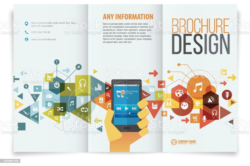 Tri Fold Brochure Design Stock Illustration Download Image Now Istock