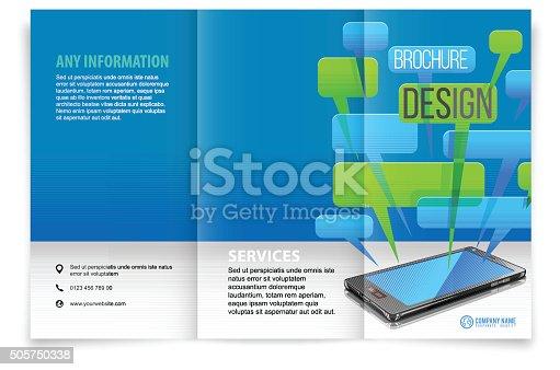 istock Tri fold brochure design 505750338
