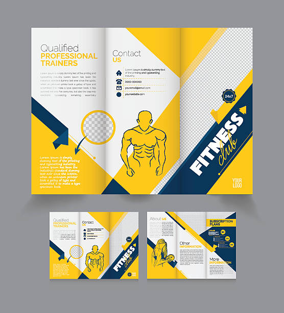 Tri Fold Brochure Modèle de conception bonne forme - Illustration vectorielle