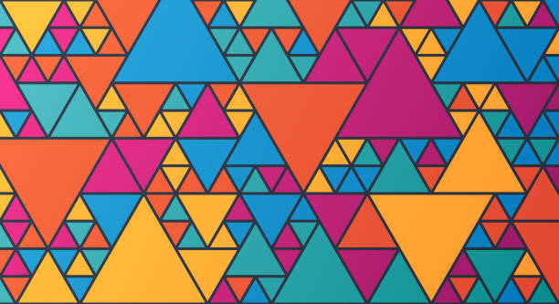 dreieck abstrakten hintergrund - geometriestunde grafiken stock-grafiken, -clipart, -cartoons und -symbole