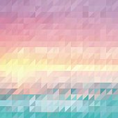 Retro triangle abstract summer background. JPG and Aics3 files are included.