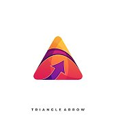 Triangle Arrow Illustration Vector Template. Suitable for Creative Industry, Multimedia, entertainment, Educations, Shop, and any related business.