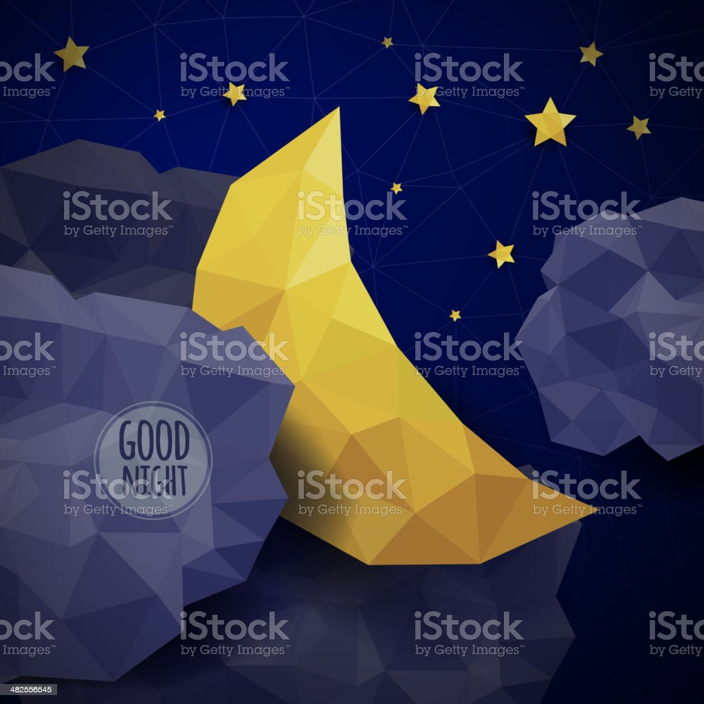 Triangle background vector art illustration
