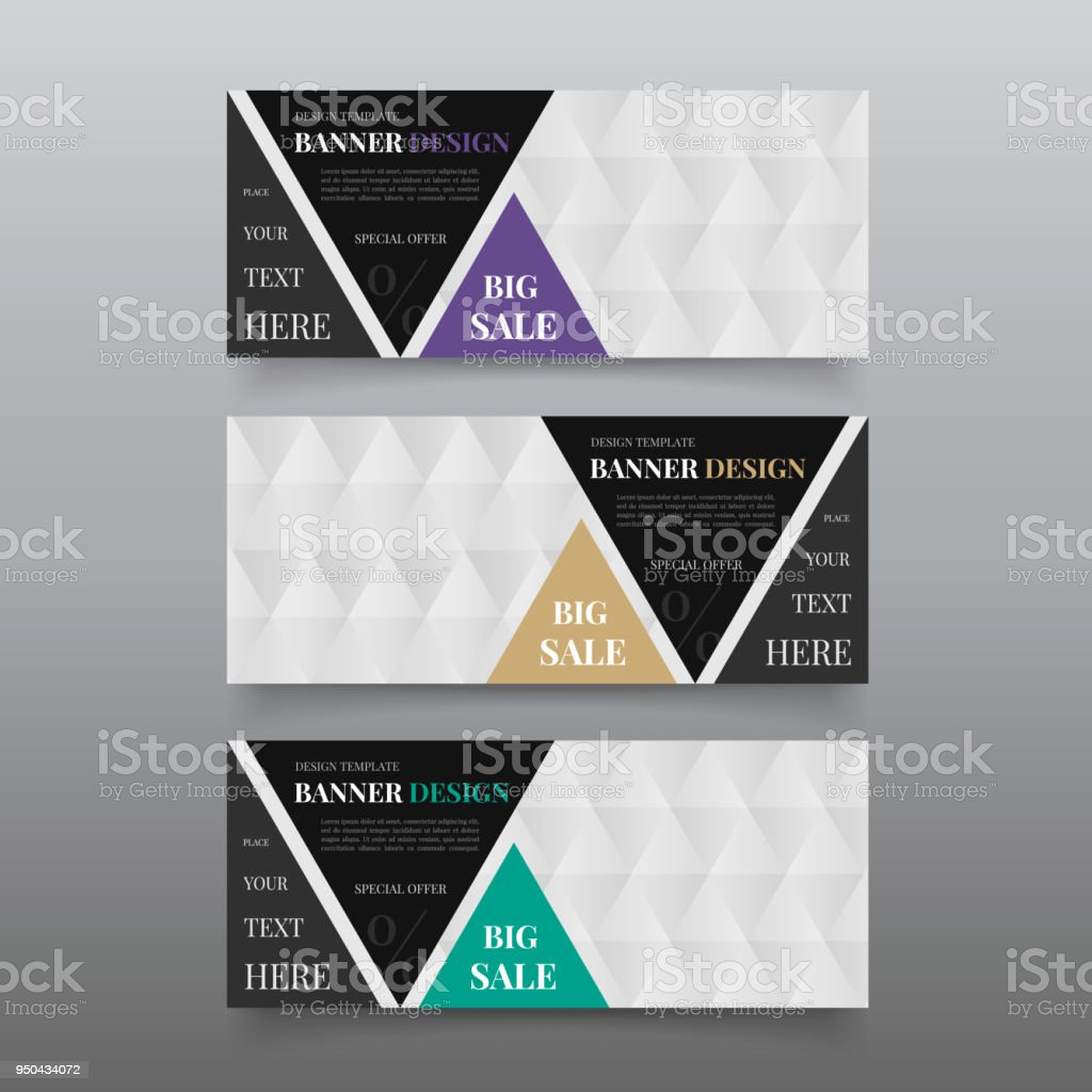 triangle banner design templates web banner design vector website