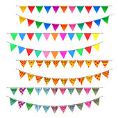 Triangle bunting flags set