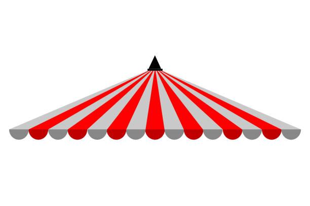 dreieck-baldachin, rot und weiß, isolated on white - dachzelt stock-grafiken, -clipart, -cartoons und -symbole