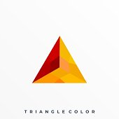 Triangle Color Illustration Vector Template. Suitable for Creative Industry, Multimedia, entertainment, Educations, Shop, and any related business.