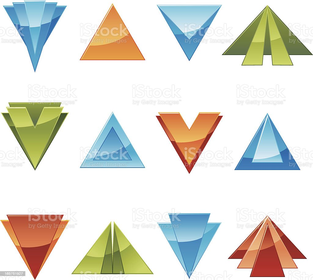 Triangle Design Elements royalty-free stock vector art