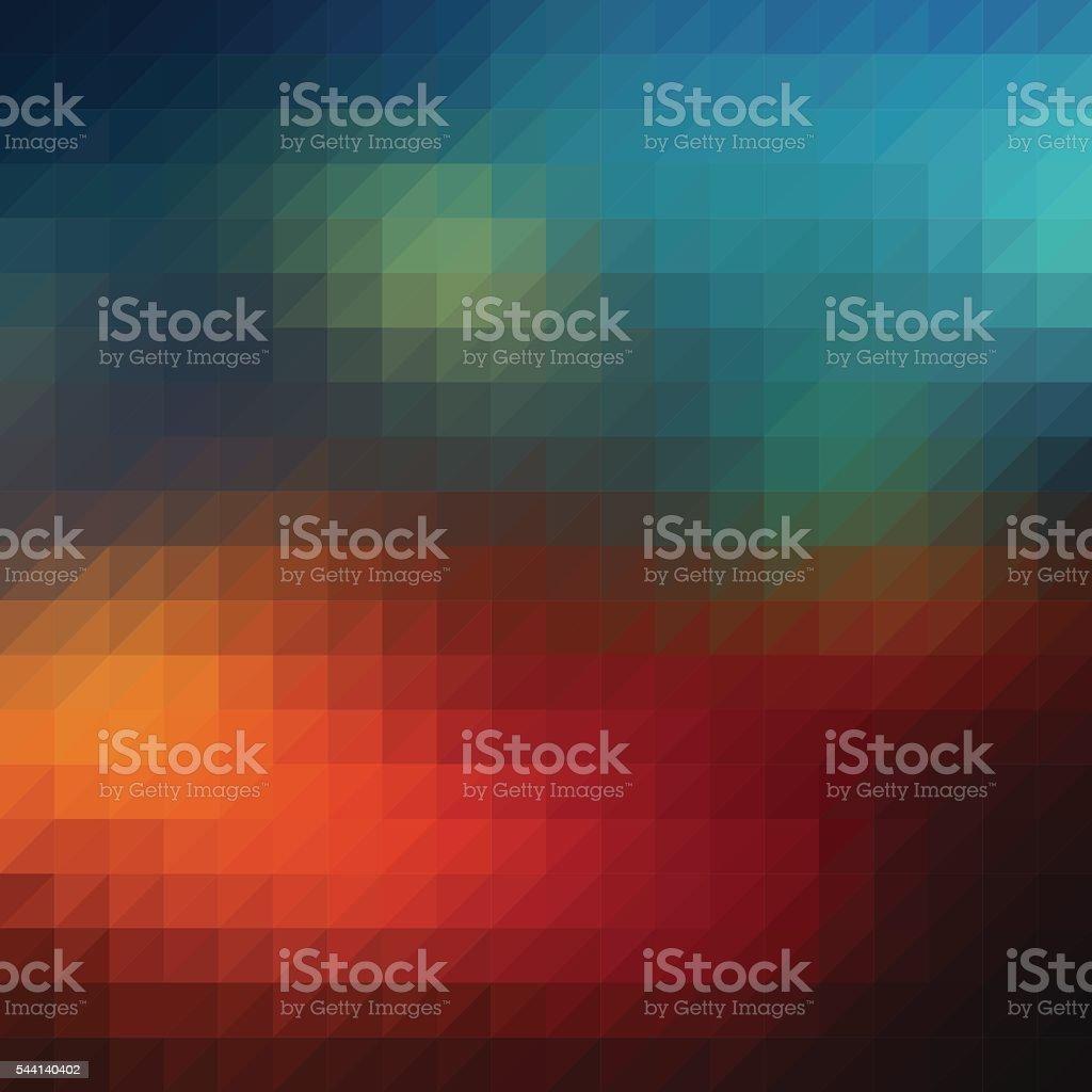 Triangle diamond rainbow background vector art illustration