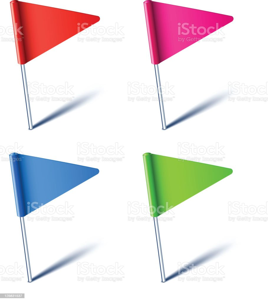 Triangle flags. royalty-free stock vector art