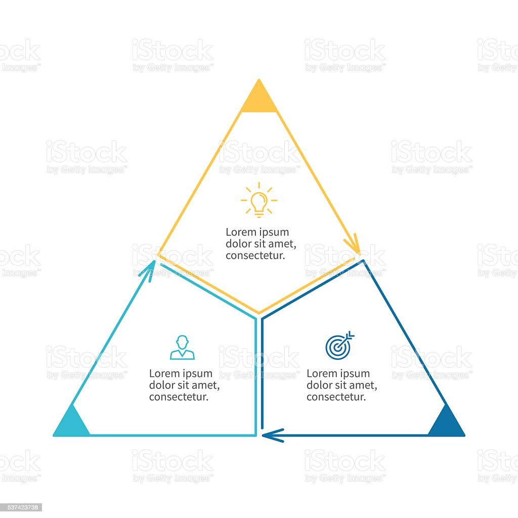 Triangle For Infographics Minimalistic Diagram Stock