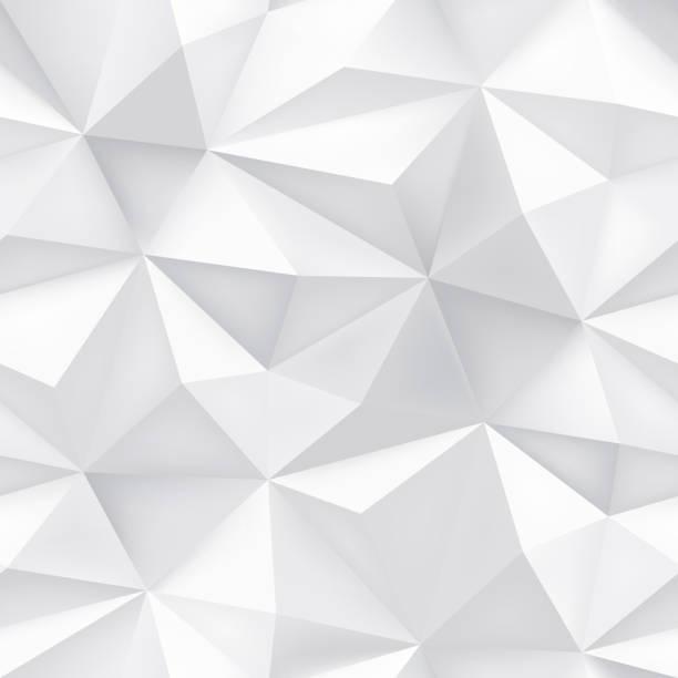 Geometrische abstrakte Dreiecksmuster Vektor Halbton Mosaik Texture nahtlose Hintergrund – Vektorgrafik