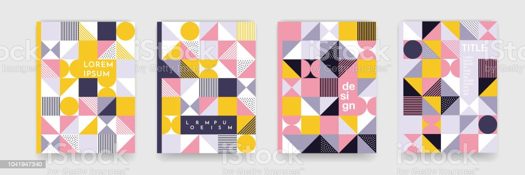 triangle geometric pattern background texture for poster cover