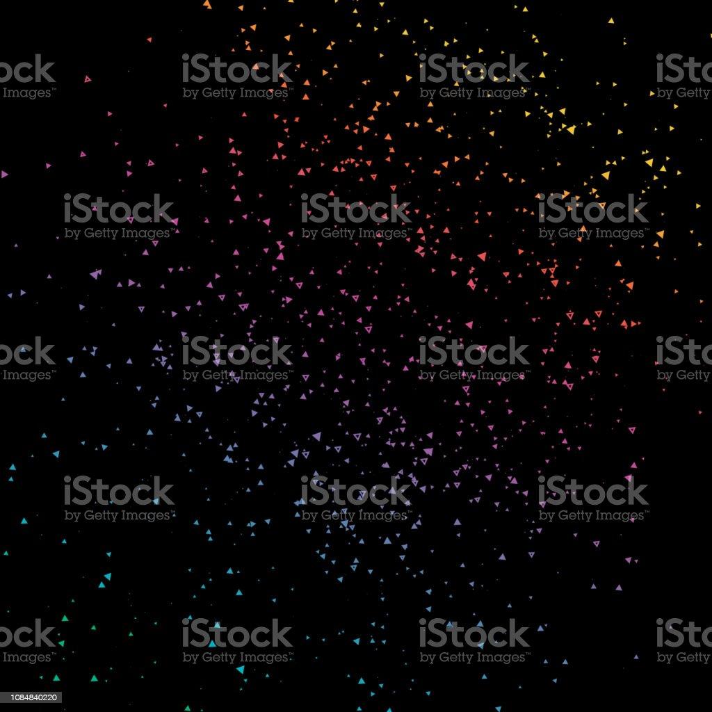 Triangle Géométrique Pixel Fondu Bruit Parti Coloré