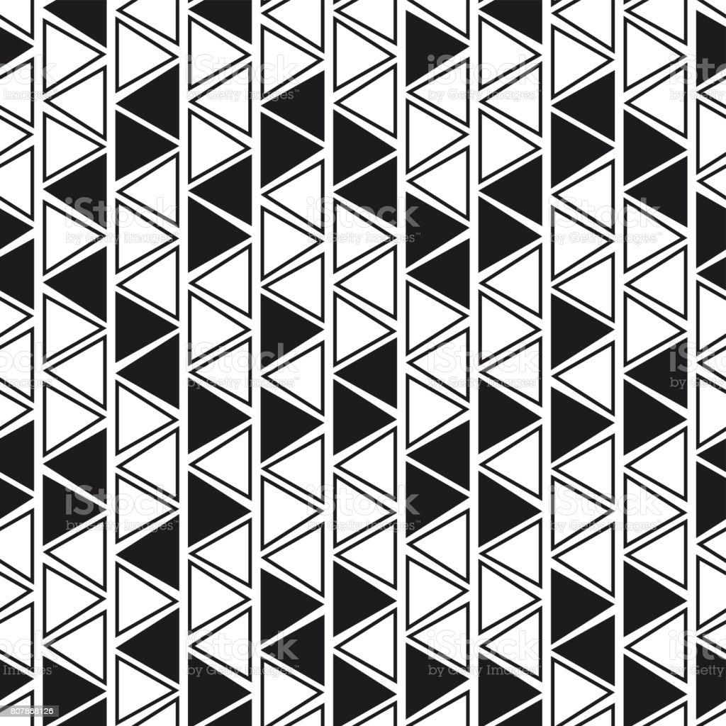 Modele Sans Couture De Geometriques Triangle Noir Blanc Cliparts