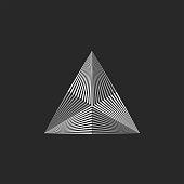 Triangle   geometric shape, thin lines hipster monogram emblem, minimal design element, t-shirt fashion print