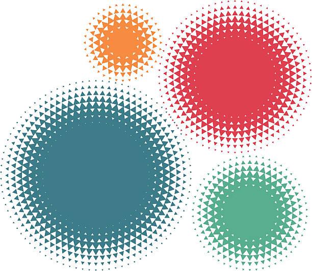triangle halftone vector art illustration