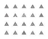 Geometric Shape, Triangle, Three, Logo, Design Concept, Creative Symbol, High Quality, Icon, Vector and Illustration