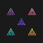 Triangle Illustration Vector Template. Suitable for Creative Industry, Multimedia, entertainment, Educations, Shop, and any related business.