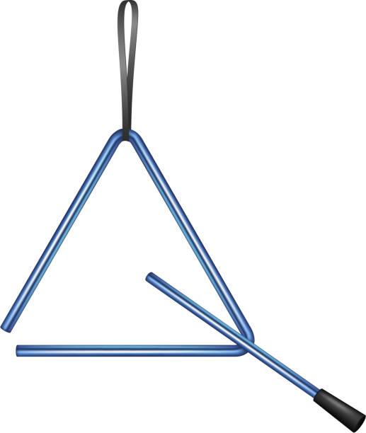 stockillustraties, clipart, cartoons en iconen met triangle in blue design - triangel