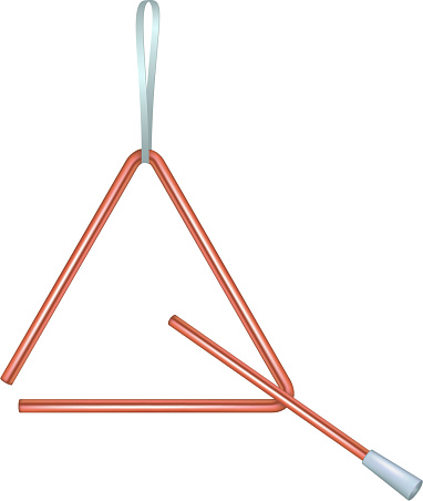 Triangle in red design