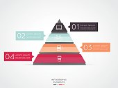 Triangle infographic for business project