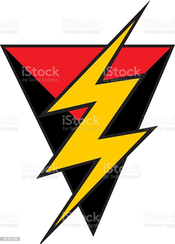 Triangle Lightning Bolt Symbol Stock Vector Art More Images Of