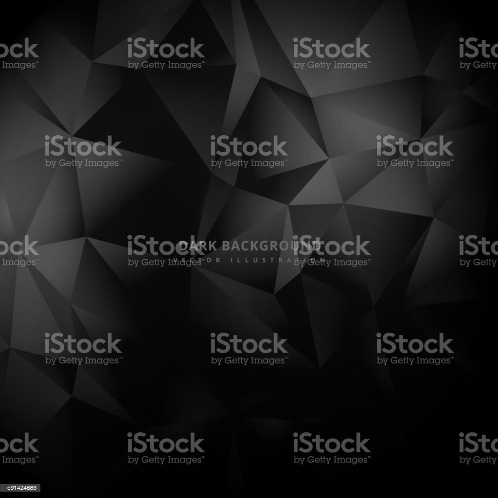 triangle low poly dark background vector art illustration