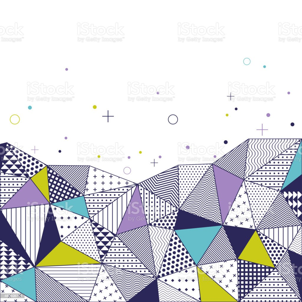 Triangle pattern background. royalty-free stock vector art