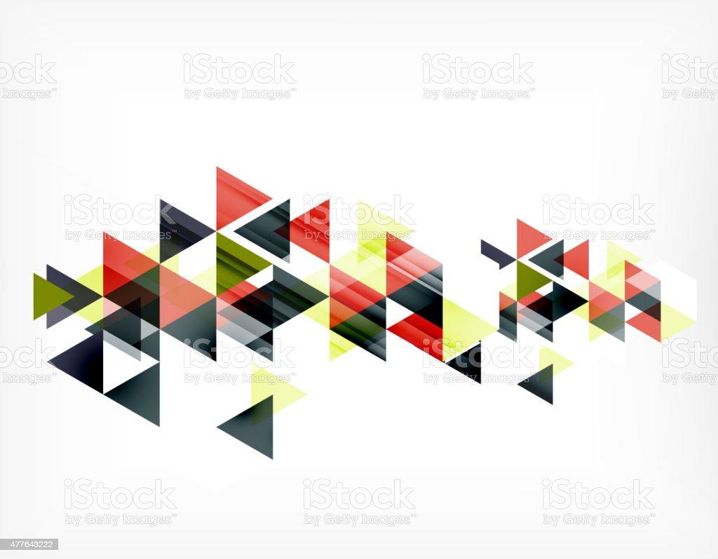 Ilustración de Patrón De Triángulo Composición Fondo Abstracto Con ...