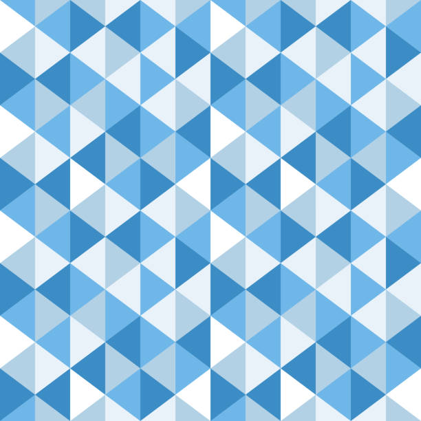 stockillustraties, clipart, cartoons en iconen met driehoek patroon - triangel