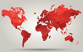 Triangle Red World Map