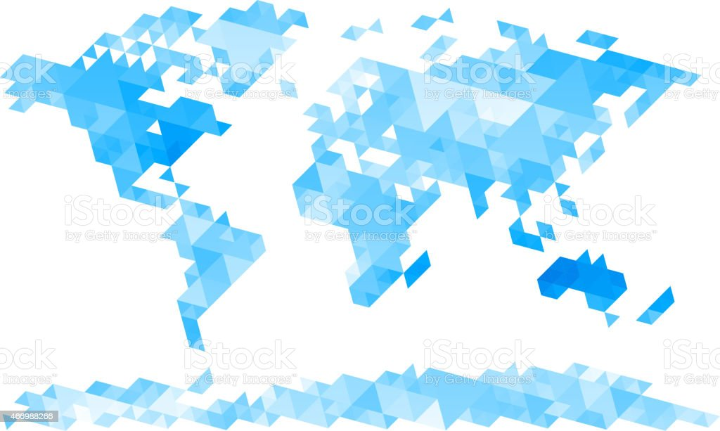 Triangle ridden vector map of the world in blue and white stock triangle ridden vector map of the world in blue and white royalty free triangle ridden gumiabroncs Gallery