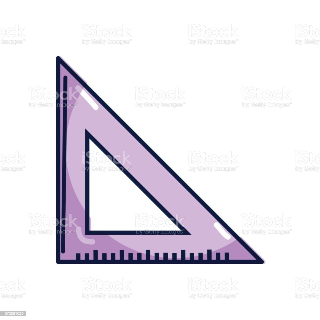 Triangle Ruler Tool To Study Stock Illustration Download Image Now Istock