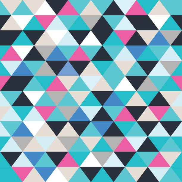 Triangle Seamless Texture Vector Art Illustration