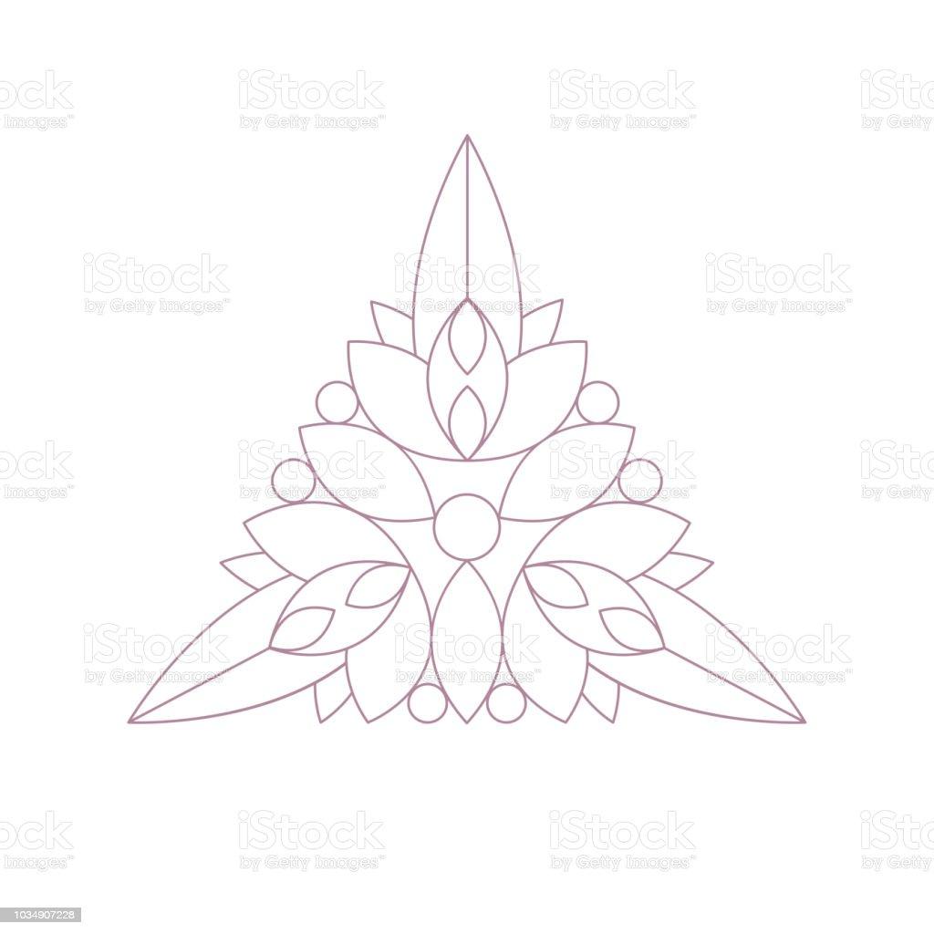 Ucgen Sekli Doodle Zen Yetiskin Renklendirme Kitap Illustration