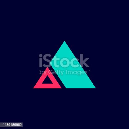 Triangle shape Logo sign