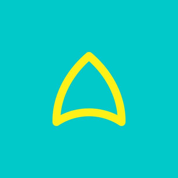 Triangle shape Logo sign vector art illustration
