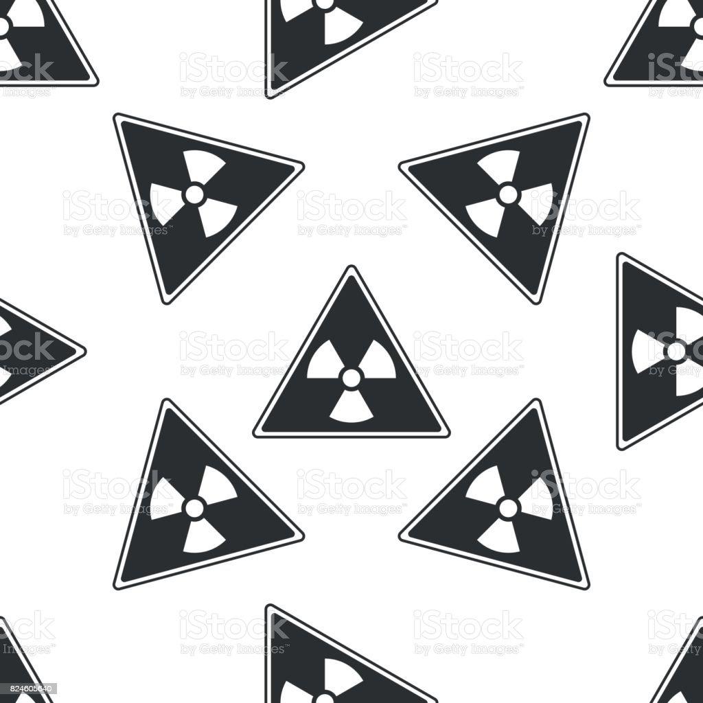 Ilustración de Signo De Triángulo Con Una Radiación Símbolo Icono De ...