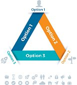 Triangle Three Object Infographic Element