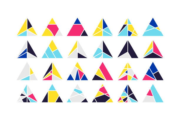 Dreieck-Vektor-Design-Elemente-set – Vektorgrafik