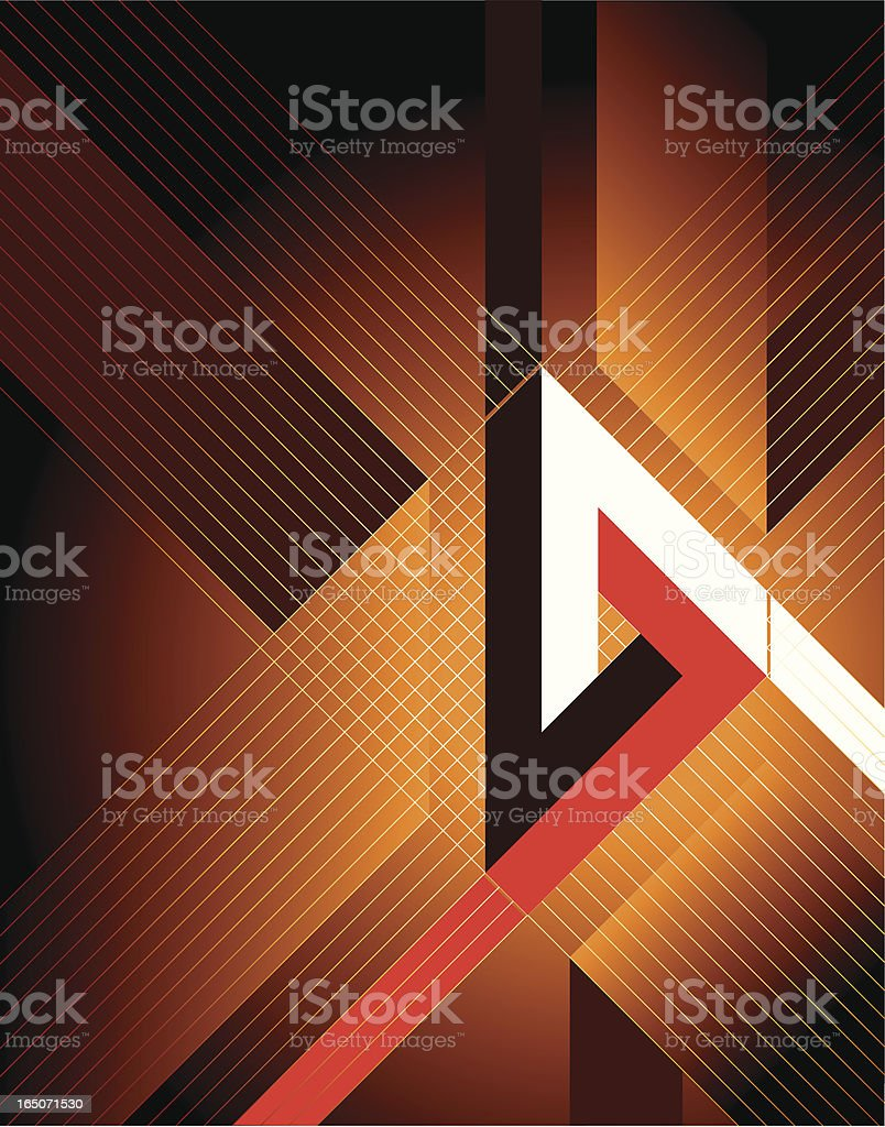 3D triangle royalty-free stock vector art