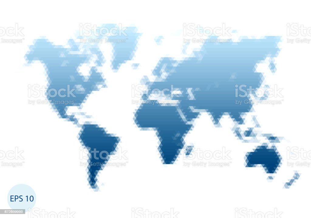 Triangle world map blue map stock vector art more images of triangle world map blue map royalty free triangle world map blue map stock gumiabroncs Image collections