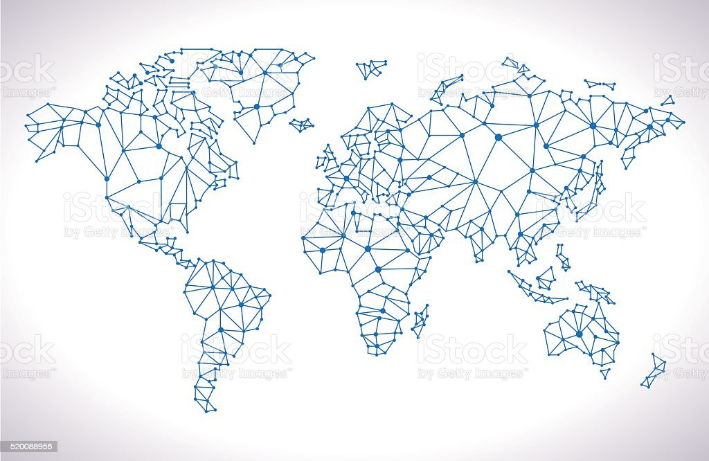 Triangle world map stock vector art more images of abstract triangle world map royalty free triangle world map stock vector art amp more images gumiabroncs Images