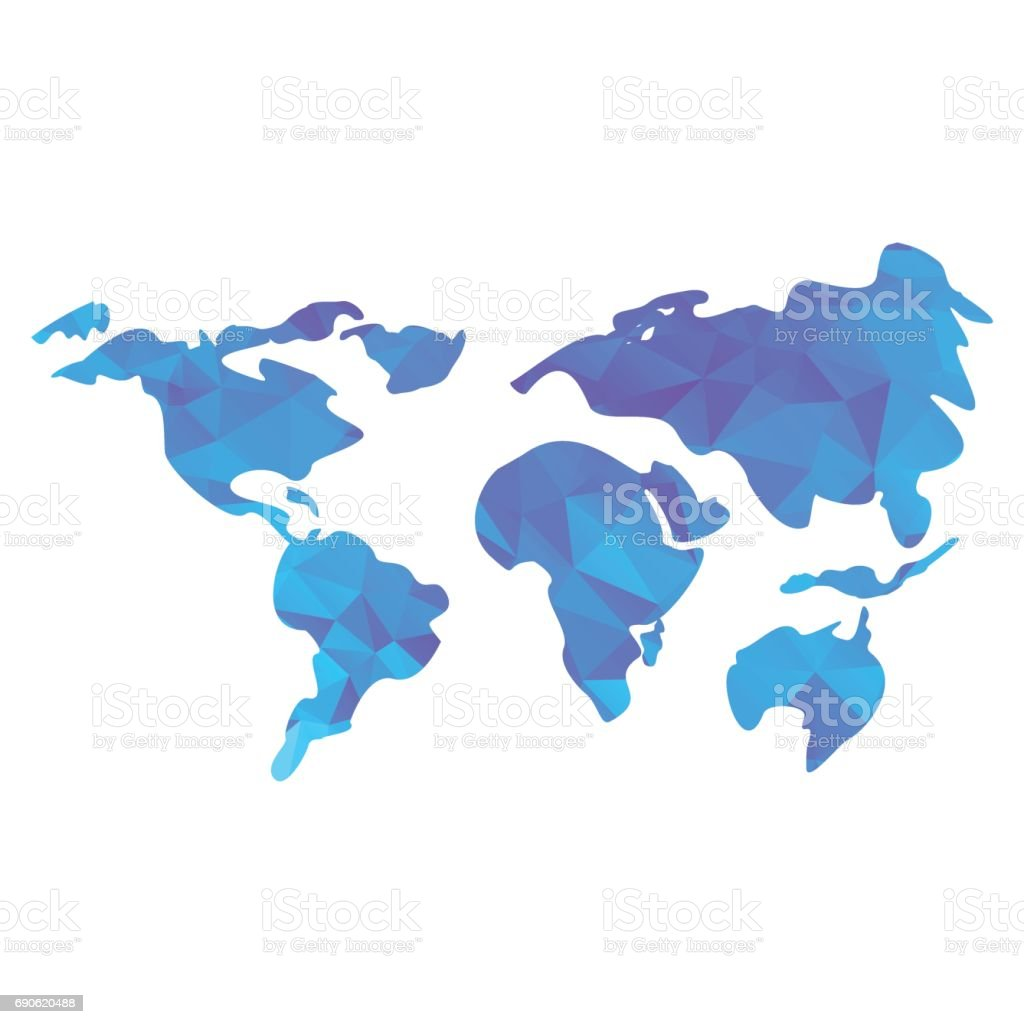 Triangle world map stock vector art more images of abstract triangle world map royalty free triangle world map stock vector art amp more images gumiabroncs Gallery
