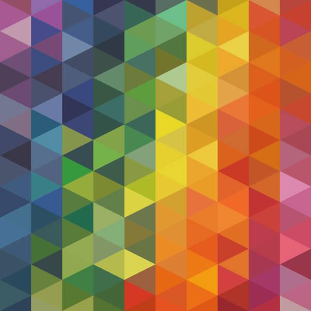 ilustrações de stock, clip art, desenhos animados e ícones de triangles background - mosaicos flores
