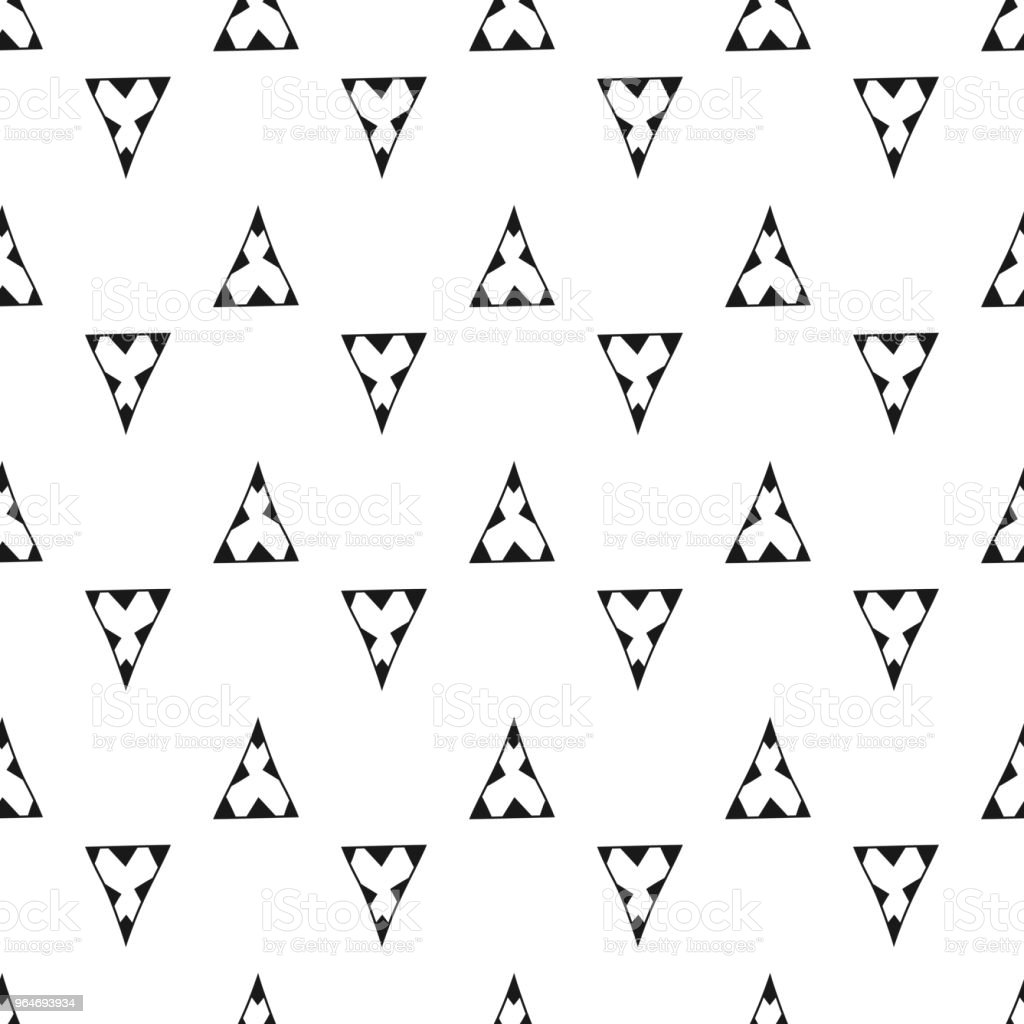 Triangles. Black and white seamless pattern. Geometric, abstract background for covers, textile. Doodle shapes. royalty-free triangles black and white seamless pattern geometric abstract background for covers textile doodle shapes stock vector art & more images of backgrounds