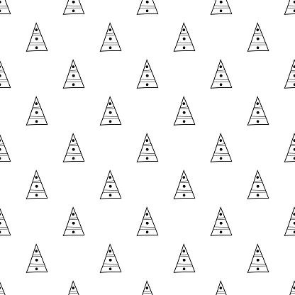 Triangles Black And White Seamless Pattern Geometric Abstract Background For Covers Textile Doodle Shapes Stock Vector Art & More Images of Backgrounds